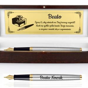 pomysł na ekskluzywny prezent pióro w drewnianym pudełku z grawerem