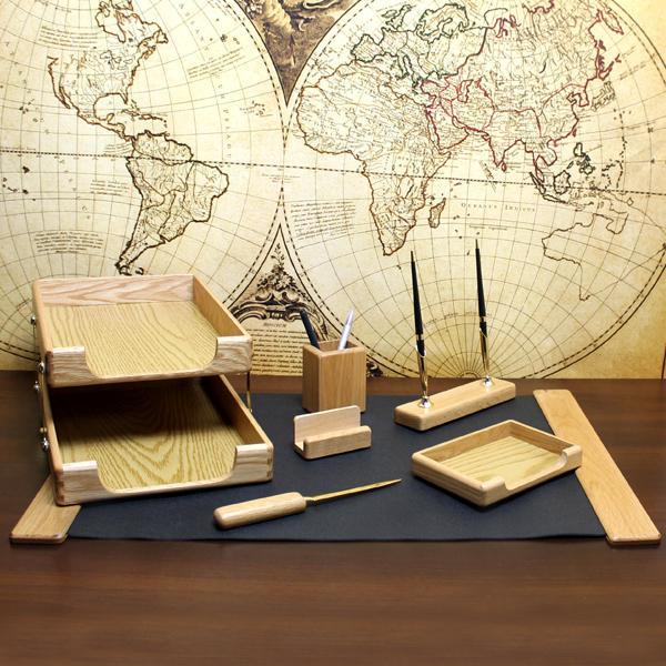 7 elementowy zestaw na biurko z grawerem
