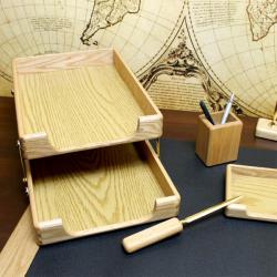 komplet biurowy z grawerem