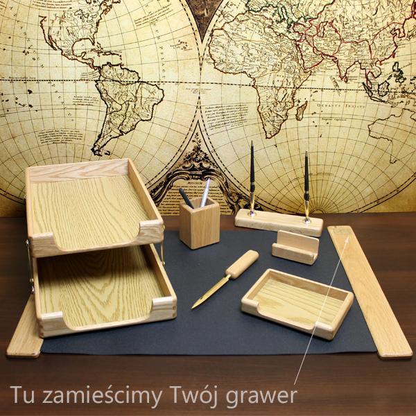 zestaw na biurko z grawerem