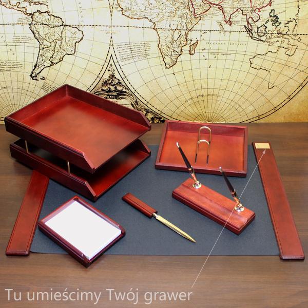 zestaw biurowy z grawerem