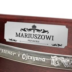 szabla radziwiłłówka na tablo z grawerem na prezent
