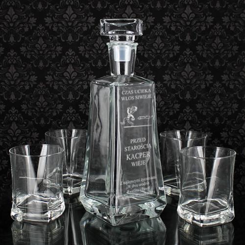 5-elementowy zestaw do whisky z opcją grawerowania - prezent dla mamy