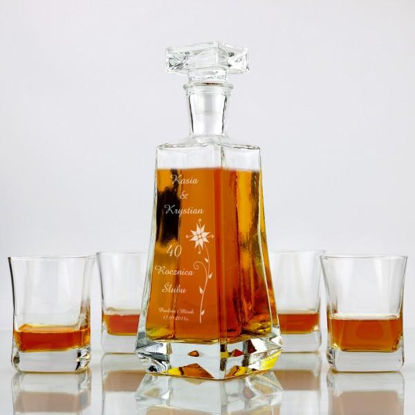 5 elementowy zestaw do whiskey z grawerem