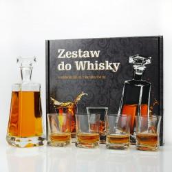 luksusowy komplet do whisky z grawerem