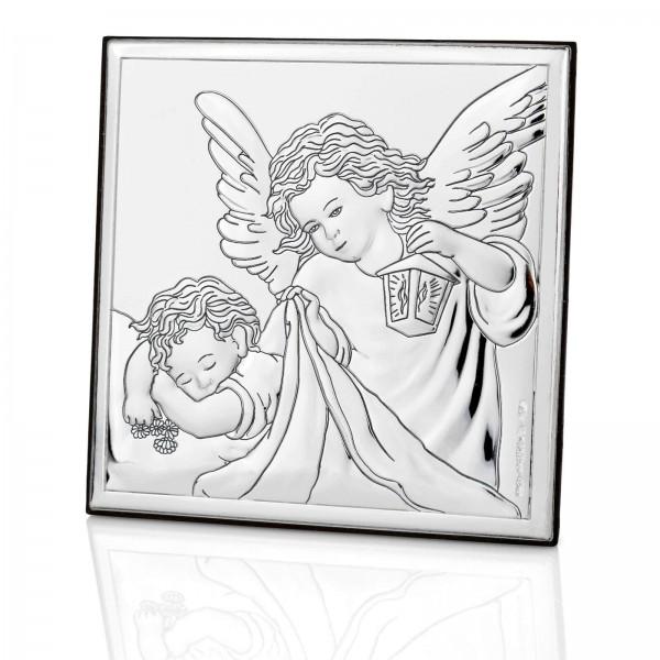 obrazek anioł stróż na chrzest