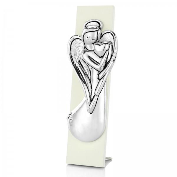 obrazek anioł stróż srebrny na prezent