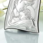 Matka Boska z Dzieciątkiem - srebrny obrazek