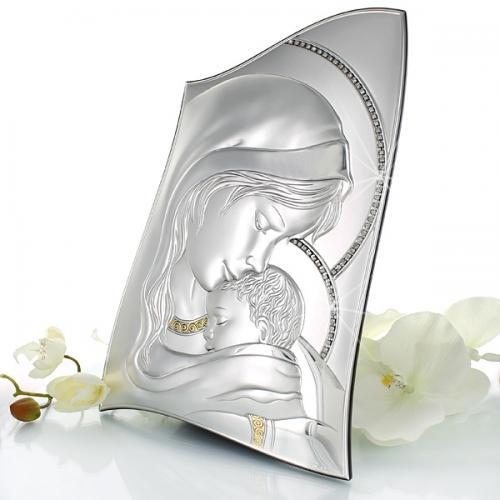 Obraz Matka Boska z Dzieciątkiem (22x32,5 cm) - upominek na ślub z opcją graweru