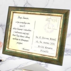 personalizowana pocztówka z dedykacją na prezent