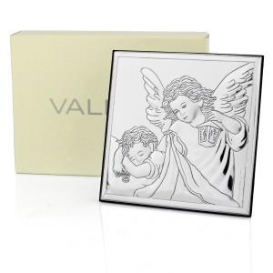 posrebrzany obrazek z Aniołem Stróżem