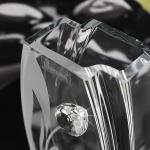 szklany wazon na prezent