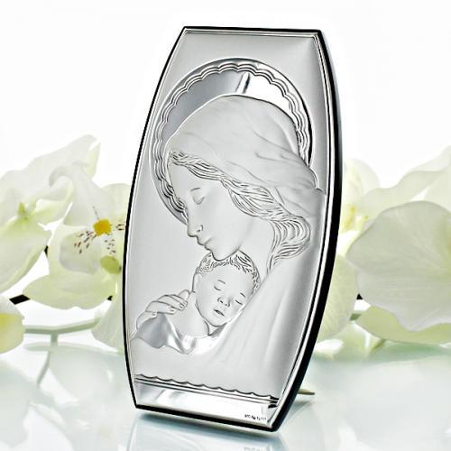 Obrazek Matka Boska z Dzieciątkiem (8x14cm) na ślub + opcja graweru