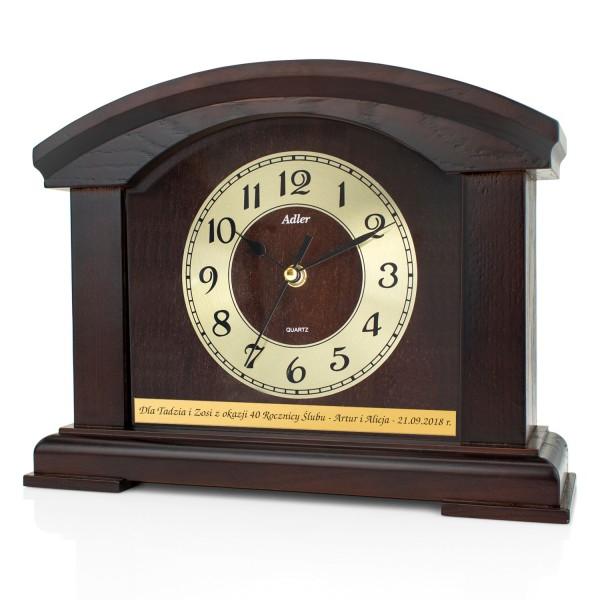 zegar kominkowy z dedykacją na prezent