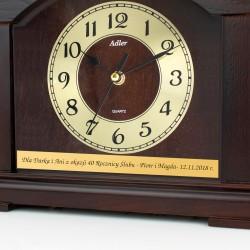 grawerowany zegar kominowy adler na prezent