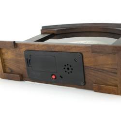 zegar kwarcowy z drewna na prezent dla pary