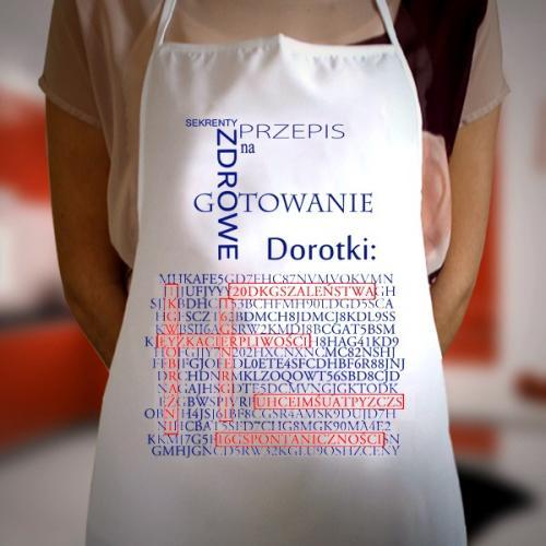 Prezent dla żony - Fartuch kuchenny z możliwością nadruku imienia