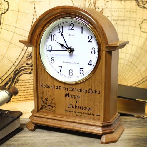 Zegar kominkowy na upominek dla księdza z możliwością grawerowania