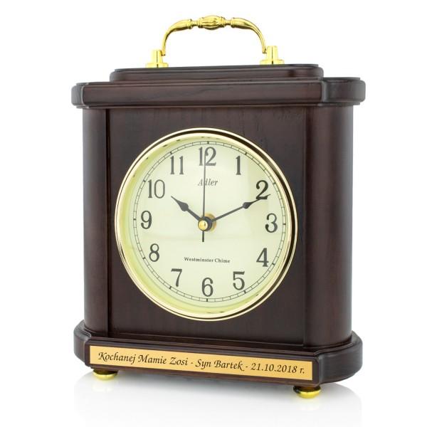 zegar kominkowy adler z grawerem dedykacji na prezent