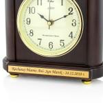 elegancki zegar kominowy z dedykacją na prezent