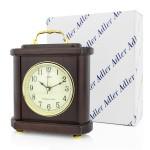 zegar kominkowy adler w drewnie na prezent