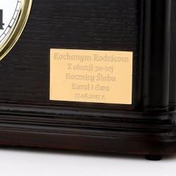 zegar z grawerem na prezent z okazji urodzin