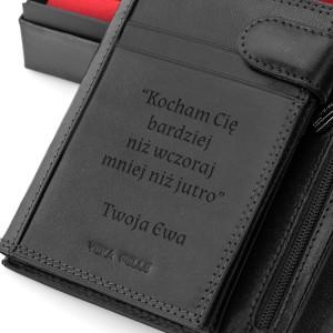 portfel skórzany z dedykacją na wyjątkowy prezent dla mężczyzny