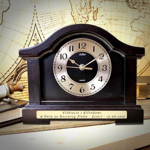 Zegar kominkowy na prezent z okazji 30-tych urodzin z możliwością graweru dedykacji życzeń