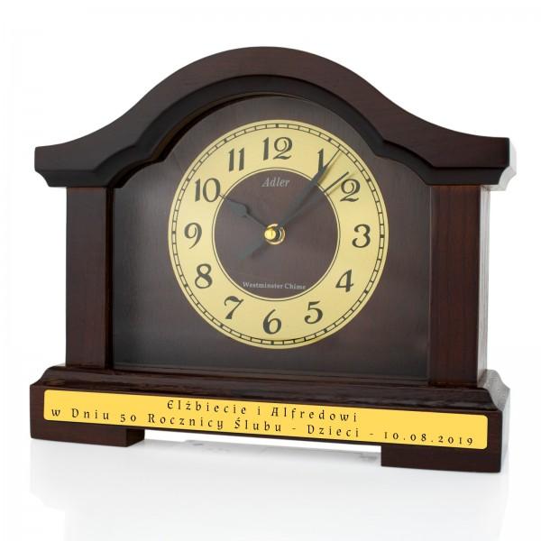 zegar kominkowy z grawerem dedykacji