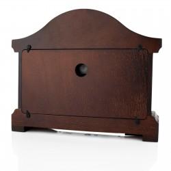zegar kominkowy drewniany