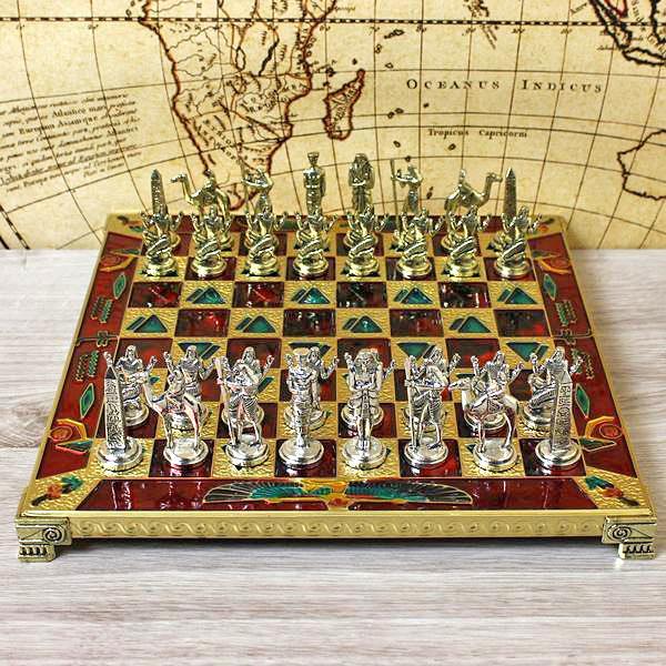 szachy mosiężne na prezent