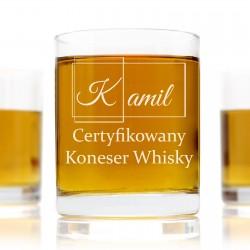 szklanka do whisky w zestawie na prezent