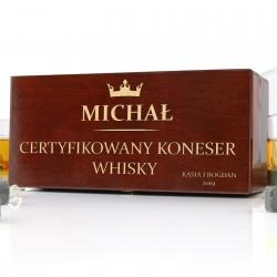 skrzynka na szklanki do whisky z dedykacją