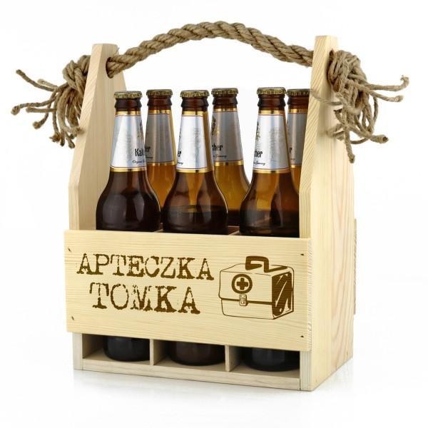 skrzynka na piwo z grawerem