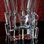 szklany komplet Bohemia grawerowana karafka ze szklankami