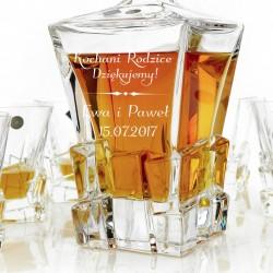 ekskluzywny zestaw szklany z Bohemi