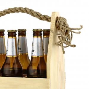 drewniana skrzynka na alkohol na urodziny