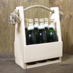 drewniane nosidełko na 6 piw