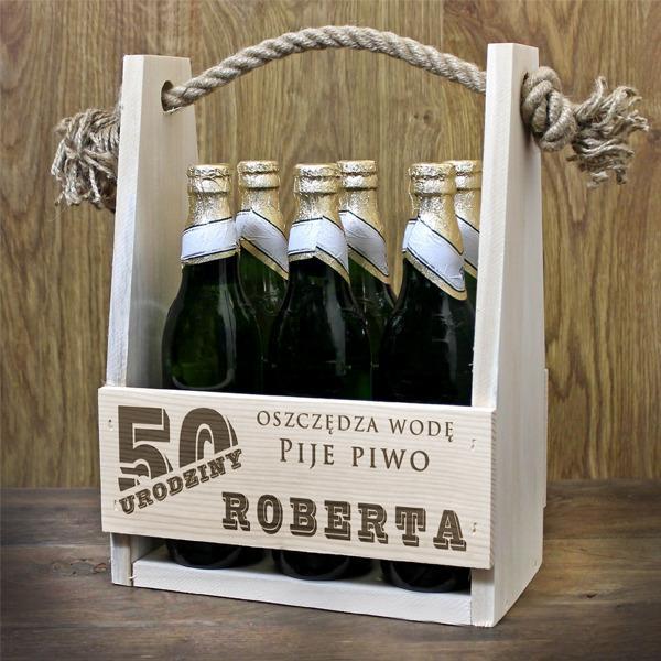 Nosidełko na alkohol z grawerem dedykacji na prezent na urodziny