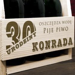 drewniana skrzynka z okazji urodzin dla faceta