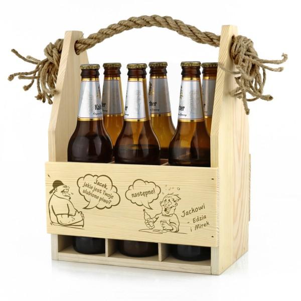 grawerowane nosidło na piwo