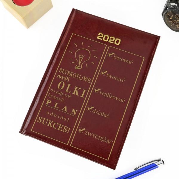 kalendarz z imieniem błyskotliwe myśli na unikalny prezent