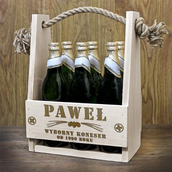 Skrzynka na alkohol na prezent z grawerem dowolnej dedykacji
