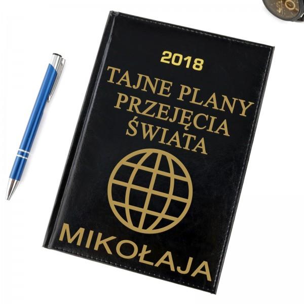 kalendarz z grawerem na  prezent