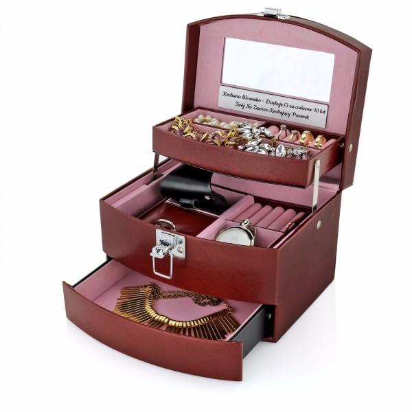 kuferek na biżuterię na prezent dla niej