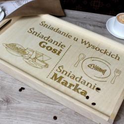 personalizowany stolik śniadaniowy