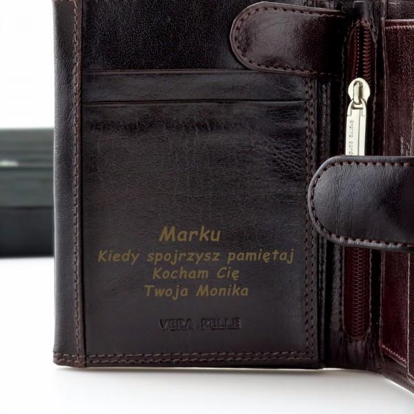 479b26096d462 Skórzany portfel męski Pierr Cardin z grawerem na rocznicę ślubu
