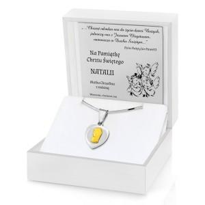 pamiątka chrztu medalik w etui z grawerem