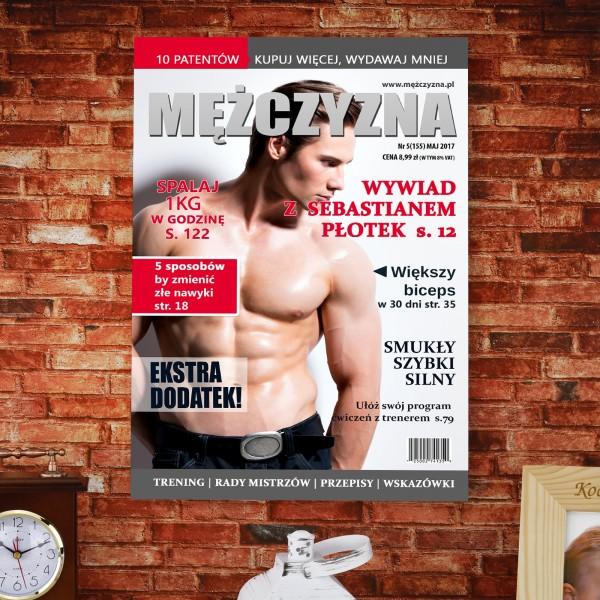 okładka magazynu dla mężczyzny