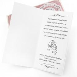 ręcznie robiona kartka na Chrzest z personalizacją